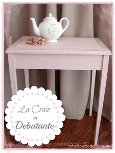 Shabby Vintage Nesting Table Makeover with La Craie Paint - Fox Hollow Cottage