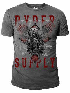 Ryder Supply Clothing Cross T-shirt (Charcoal Grey)