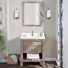 Small Bathroom Vanities, Bathroom Sink Vanity, Bathroom Renos, Bathroom Ideas, Basement Bathroom, Master Bathroom, Bath Ideas, Pool Bathroom, Bathroom Inspiration