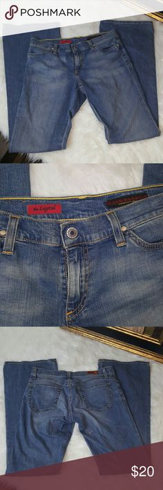 Women's AG Jean's The Legend Flare Size 28 These Women's AG Jean's are in good condition. Gently used. These are the Legend model of AG. Flare/ Wide Leg Size 28 Regular Inseam 33 Rise 8 inch 95% cotton 5% Polyurethane AG Adriano Goldschmied Jeans Flare & Wide Leg