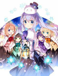 Gochuumon wa Usagi Desu ka (Is The Order A Rabbit? Kawaii Anime, Loli Kawaii, Chica Anime Manga, Kawaii Girl, Anime Comics, Aho Girl, Lolis Neko, Kirara, Chibi Girl