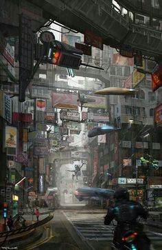 Future city commercial street