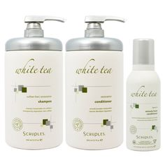 Scruples White Tea Restorative Shampoo and Conditioner 32oz and Leave-in Miracle Foam 5.1oz 'Set' -- Read more  at the image link.