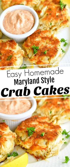 The best crab cakes let the fresh crab meat be the main event with very little filler and a whole lot of flavor. These classic Maryland style crab cakes feature jumbo lump crab meat, lemon, parsley, a little filler to keep them together and a touch of spice from cayenne pepper.#crab #crabcakes #lumpcrab #seafood #easydinner #30minutemeals Recipes Appetizers And Snacks, Best Appetizers, Grilling Recipes, Easy Dinner Recipes, Seafood Recipes, Beef Recipes, Easy Meals, Cooking Recipes, Easy Recipes