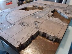 Industrial River City Table » Blue Forge Terrain