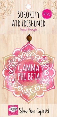 Gamma Phi Beta Mandala Air Freshener 2/Package