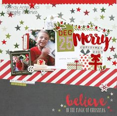 Merry Christmas 2014  **Simple Stories DT** - Scrapbook.com - Made with the Claus & Co collection by Simple Stories