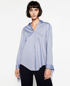 Image 2 of COTTON BLOUSE from Zara