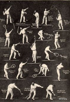1920 How to Play Tennis. Nostalgic!  www.primalfitnesscenters.com #primalfitnesscenters #primalenergy #irvine #gym #workout #exercise #fitness #tennis #history #poster