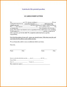 How to write up your own custody support agreement temporary temporary guardianship letter template free word pdf format amp premium templates spiritdancerdesigns Choice Image