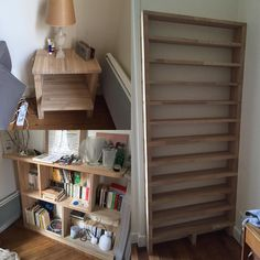 2 things build with the rest of the bookcase.. #oak #woodworking #menuiserie