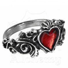 Un chef-d'oeuvre du rococo symbolique romantique, avec un cœur émaillé rouge qui révèlera votre passion. Et c'est signé Alchemy Gothic! Frais de port pour cet article 3,50 € seulement !