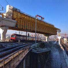 Building site Letzigrabenbrücke. The bridge is part of the Durchmesserlinie.