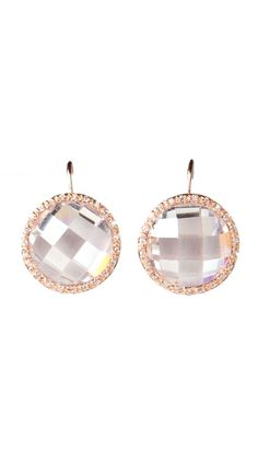 Crystal Cut Round Pave Trim Earrings#Repin By:Pinterest++ for iPad#