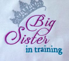 Big sister in training cute t shirt for by KreativeImpressions1