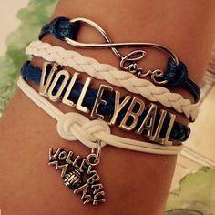 #volleyball #bracelet #volleyballlove