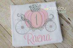 Pink Cinderella Carriage Princess Birthday Toddler Tee Shirt - First Birthday or ANY AGE - Princess Party on Etsy, $25.00