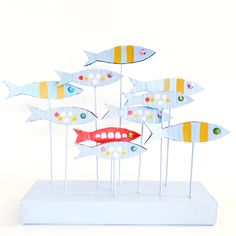 School of Fish Sculpture