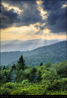 August Rays - Blue Ridge Parkway Sun Beams by Dave Allen Photography, via Flickr