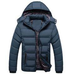 Men Hoody Winter Coats Male Hooded Plus Size XXXL 4XL Jackets Teenager Slim  Fit Windbreaker Down Parka 42247d147e3c