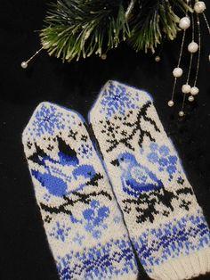 Ravelry: Winter Songbirds pattern by Natalia Moreva Knitting Charts, Knitting Patterns, Knit In The Round, Circular Needles, Ravelry, Knit Crochet, Stitch, Inspiration, Knit Patterns