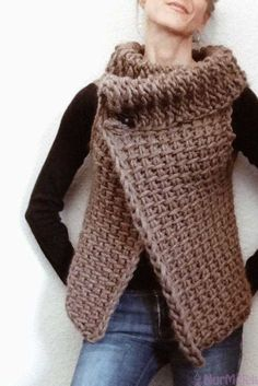 Most up-to-date Photographs Tunisian Crochet vest Suggestions Gilet Crochet, Crochet Vest Pattern, Tunisian Crochet, Crochet Cardigan, Crochet Shawl, Knitting Patterns Free, Free Crochet, Knit Crochet, Crochet Patterns