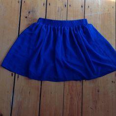 Royal blue sheer (lined) skirt Sheer bright blue! Forever 21 Skirts