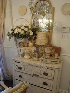 sweet and shabby, reminds me of a store we had called Vintage Affair.