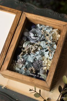 Flower Boxes, Flower Frame, My Flower, Wedding List, Wedding Ring Box, How To Wrap Flowers, How To Preserve Flowers, Dried Flower Bouquet, Dried Flowers