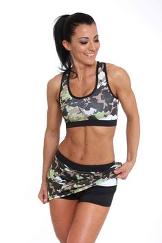 Fitness mini skirt 👗🏋🏻♀️ Camouflage Jungle Own design and creation by MSO emese@msofitness.hu