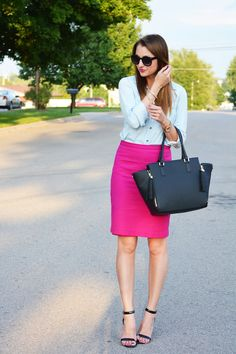 Love, Lenore: Pink Pencil Skirt