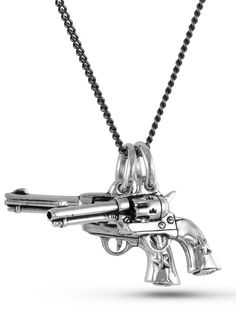 """6 Shooters"" Necklace by Lost Apostle (Antique Silver)"