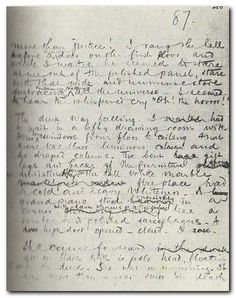 Manuscript page from Heart of Darkness // Joseph Conrad