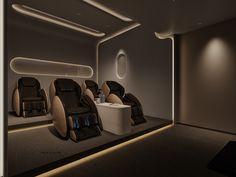 像风一样自由|空间|室内设计|卖画为生 - 原创作品 - 站酷 (ZCOOL) Home Theater Room Design, Home Cinema Room, Home Theater Decor, Home Stairs Design, Home Theater Rooms, House Design, Home Cinema Seating, Cinema Seats, Basement Bar Designs