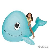 Giant Inflatable Whale.   Big and Cute Ocean Friend for the Pool! a very fun toy!