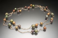 Created by Christopher Duquet Fine Jewelry Design. Materials; 14K Rose Gold, Pearls #jewelry #necklace #pearls
