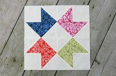Ribbon Star Quilt Block | FaveQuilts.com