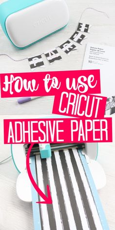 Learn how to use Cricut adhesive backed paper on the Cricut joy to make a party banner! This new Cricut material is perfect for paper crafters! Diy For Teens, Diy For Kids, Paper Video, Plastic Folders, How To Use Cricut, Cricut Vinyl, Cricut Craft, Cricut Tutorials, Sticker Paper