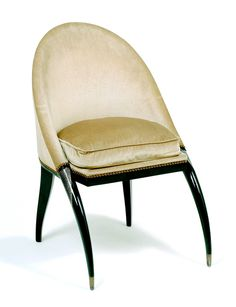 Vanity Chair designed by Emile Jacques Ruhlmann and lacquer work by Jean Dunand