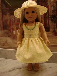 Custom Couture Sundress and More for American Girl Dolls Constructed from a Liberty Jane Pattern. $39.99, via Etsy.