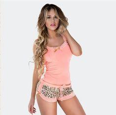 Coral and tiger print pjs Cute Sleepwear, Sleepwear Women, Lingerie Sleepwear, Swag Outfits, Hot Outfits, Pijamas Women, Cute Pjs, Girls Are Awesome, Womens Pyjama Sets