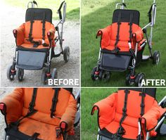 How to clean a stroller. WHOA look at the difference!