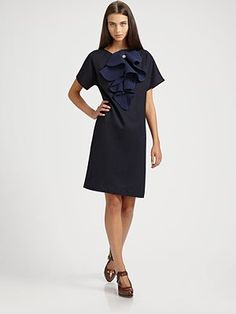 Fendi Wool Jabot Dress, Saks.com, $1880