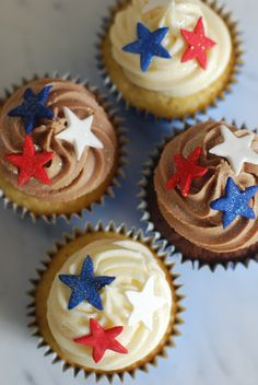 4th of July Cupcakes | Veteran's Day cupcakes