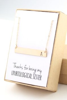 Perfect Personalized Necklace for your Unbiological Sister
