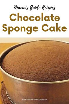 This chocolate sponge cake is so soft, delicious and easy to make. You can bake … This chocolate sponge cake is so soft, delicious and easy to make. You can bake it for any day, birthday or special occasion. Easy Sponge Cake Recipe, Sponge Cake Recipes, Easy Cake Recipes, Baking Recipes, Easy Birthday Cake Recipes, Chocolate Ganache Icing, Chocolate Sponge Cake, Chocolate Slice, Food Cakes