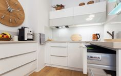 Malý byt 1+1 – HANÁK Olomouc Corner Desk, Kitchen Cabinets, Table, Furniture, Interiors, Home Decor, Corner Table, Decoration Home, Room Decor
