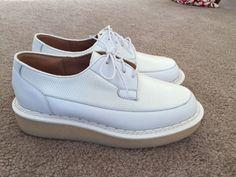 Purified X George COX Nwot White Leather Creepers Shoes SZ 39 UK 6 | eBay