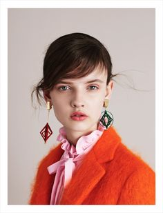 Wow, soft pink and tangerine, stellar! MSGM | Fall 2015 Campaign | The Impression