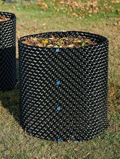 Aerator Composter - Large Compost Bin - Black Plastic Composter
